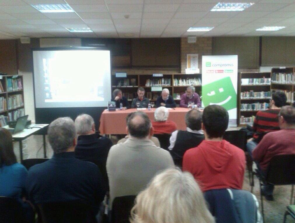 Acte de presentació del llibre sobre la memòria històrica a la província, 3/12/2013.